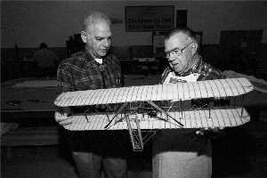 Howard DuFour and Wright Flyer model