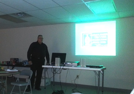 Rich Cady giving O2 System Maintenace presentation