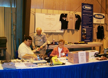 COPAMA volunteers at the booth